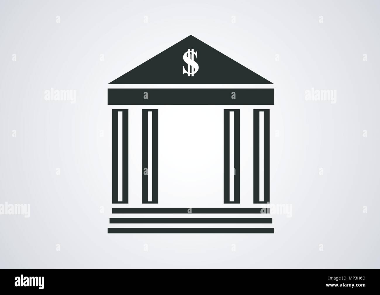 vector design of banking place logo - Stock Image