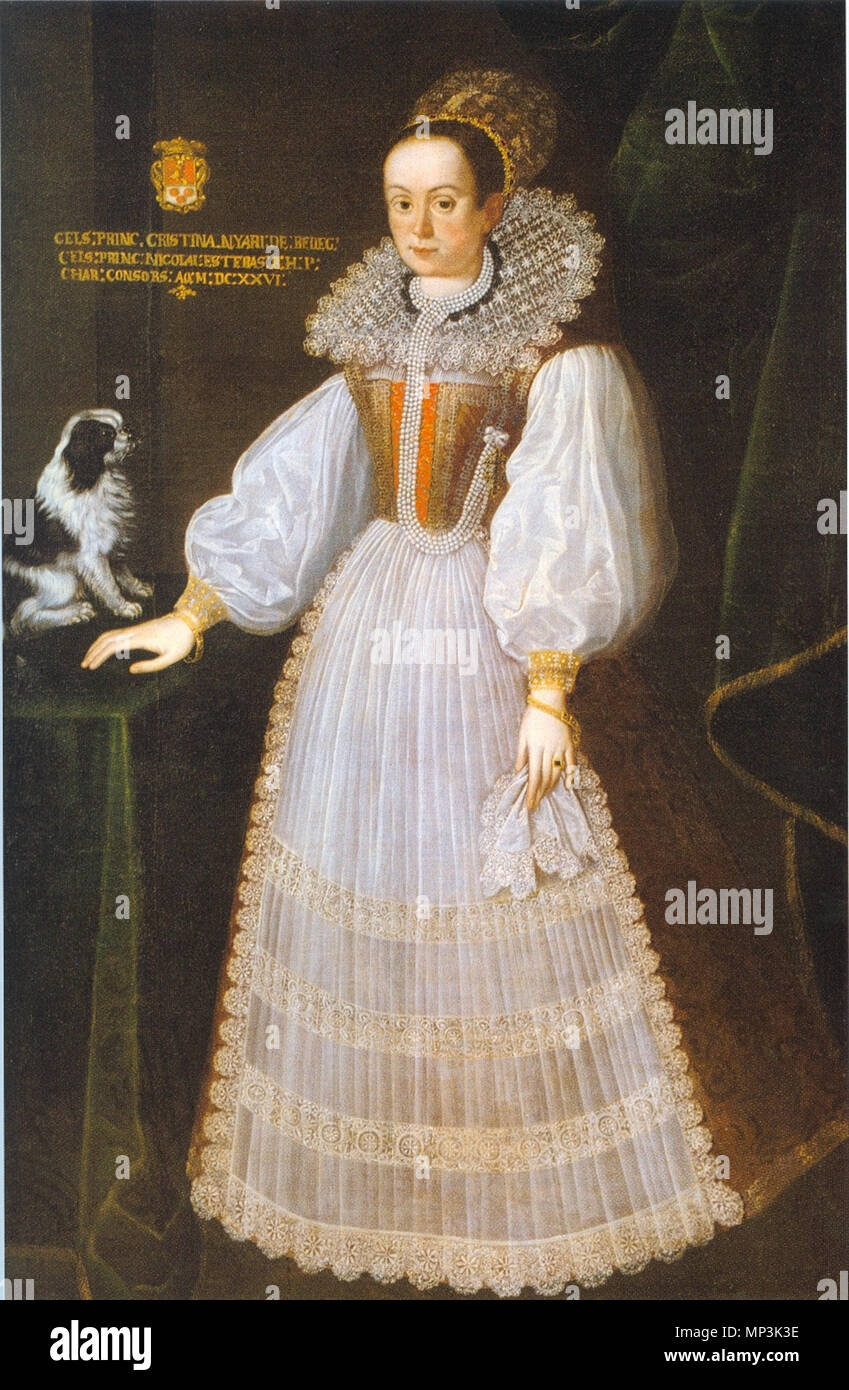 .  English: Krisztina Nyáry, second wife of palatine Miklós (Nikolaus) Esterházy . 1626.   936 Nyary Krisztina - Stock Image