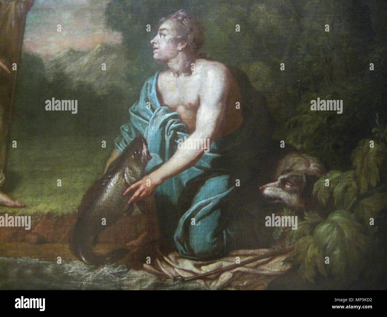 Tobias with angel   detail   18th century  Anton Losenko