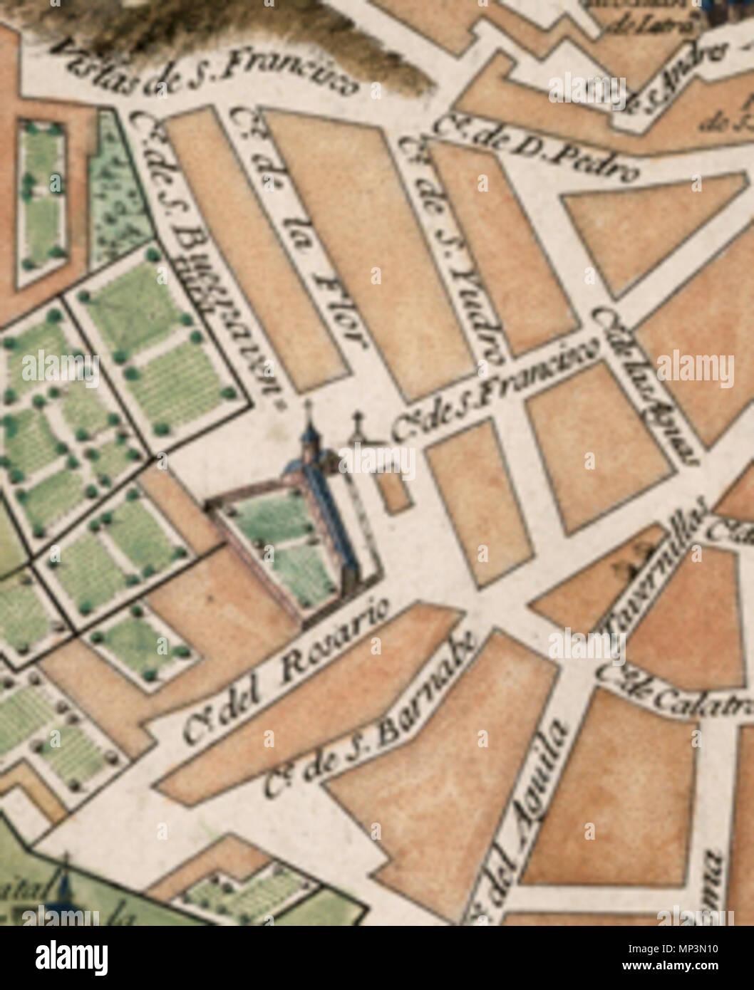 Madrid English Decorative Large Plan Of Madrid Originally Issued - Large decorative maps