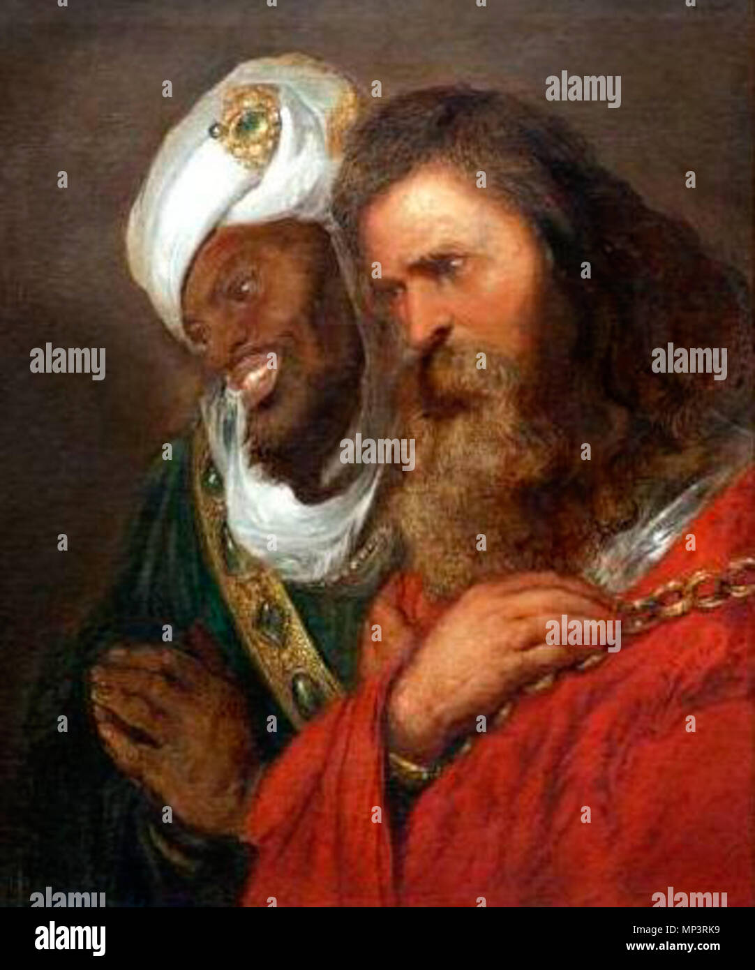 English Saladin And Guy De Lusignan Nederlands Saladin En Guy De