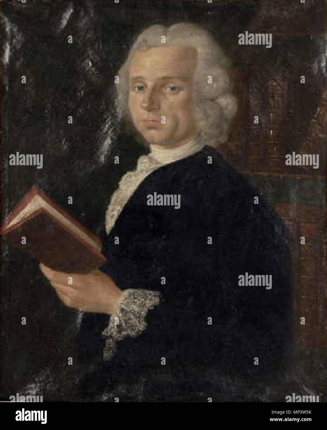 . Français: Portrait de Jean-Pierre David, gendre de Claude-Nicolas Lecat, chirurgien chef de l'Hôtel-Dieu . 1766. C. Le Carpentier 716 Jean-Pierre David - Stock Image