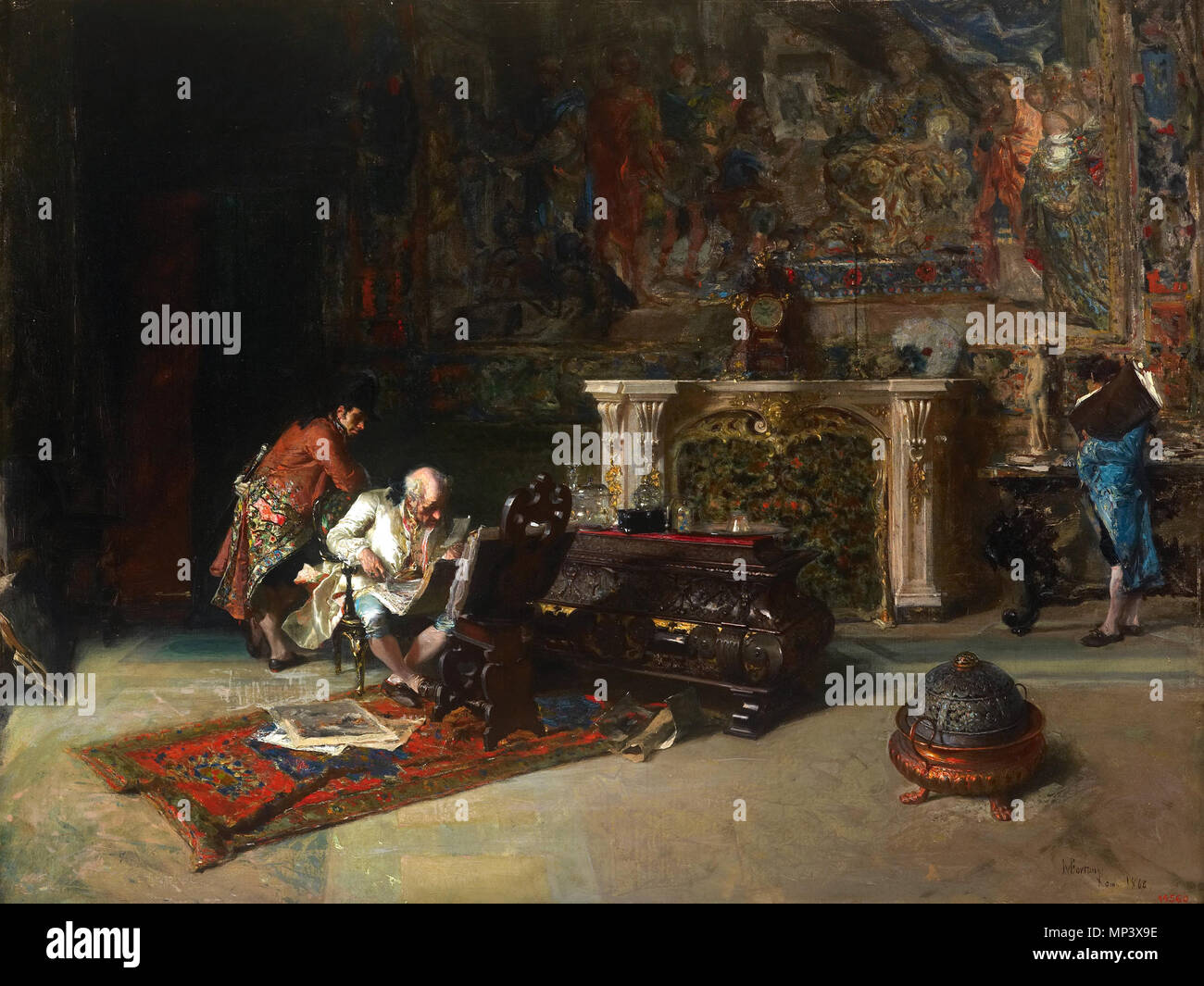 862 Marià Fortuny - The Print Collector - Google Art Project 2 - Stock Image