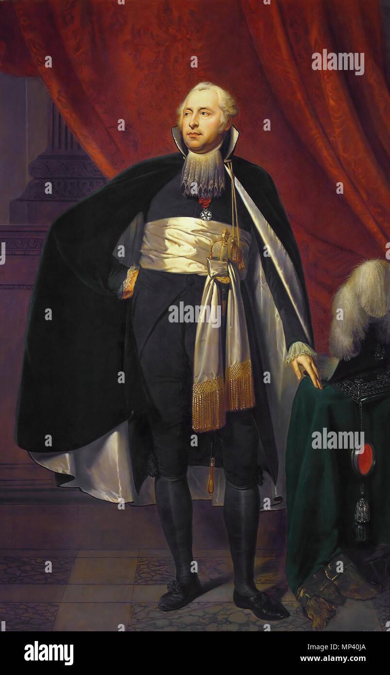 . Portret van Rutger Jan Schimmelpenninck (1761-1825), Raadspensionaris van de Bataafse Republiek (1805-1806). Kasteel Nijenhuis, Diepenheim. circa 1805.   1100 Schimmelpenninck - Stock Image