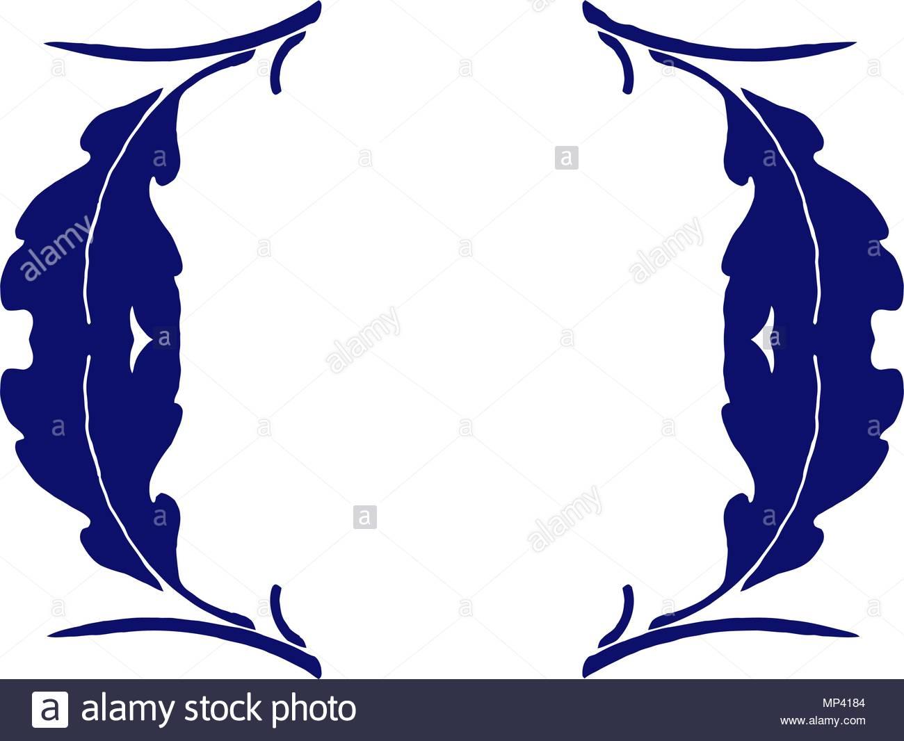 Vintage frame blue design - Stock Image