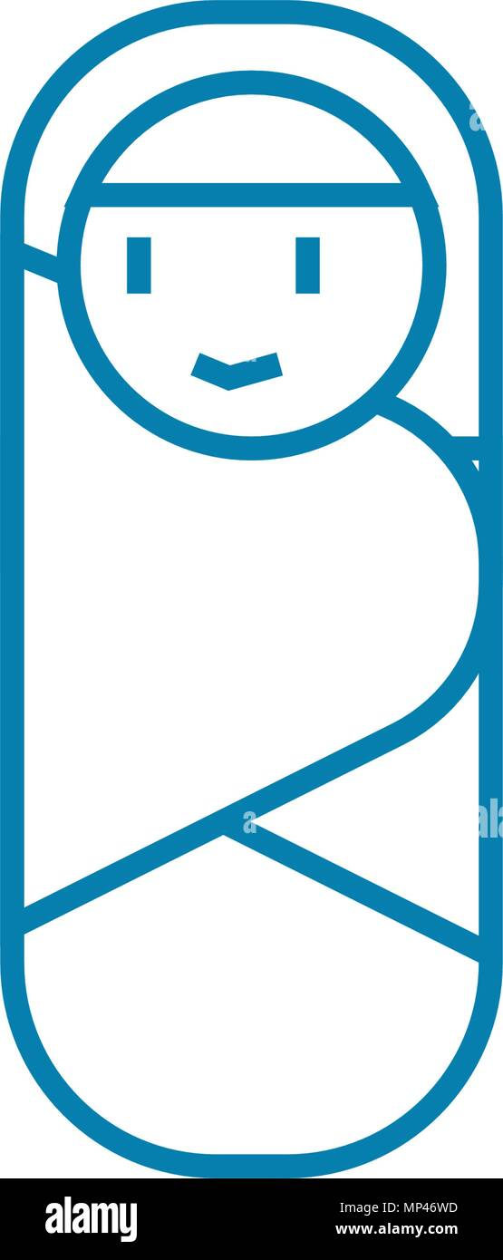 Nurseling linear icon concept. Nurseling line vector sign, symbol, illustration. - Stock Image