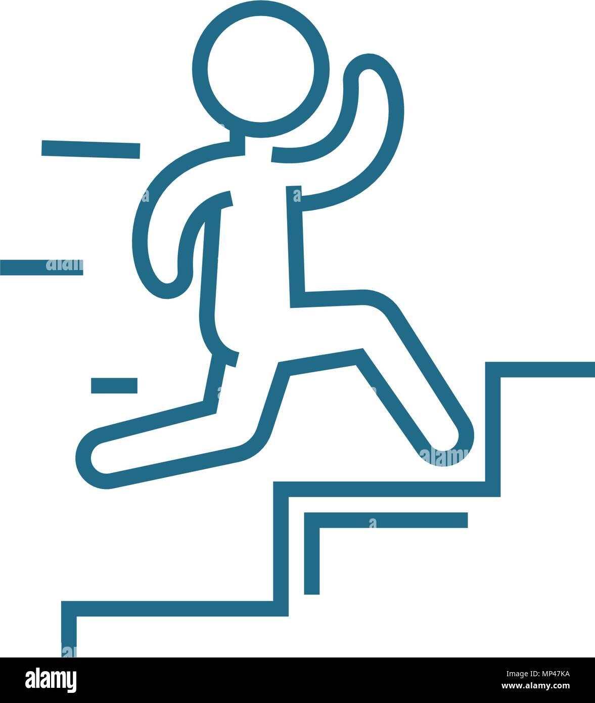 Quick Success Linear Icon Concept. Quick Success Line