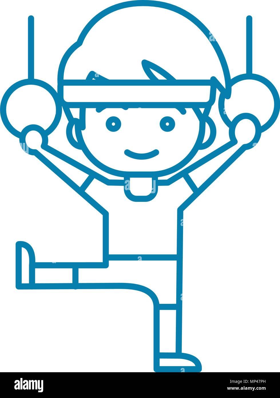 Rhythmic Gymnastic Linear Icon Concept Rhythmic Gymnastic Line