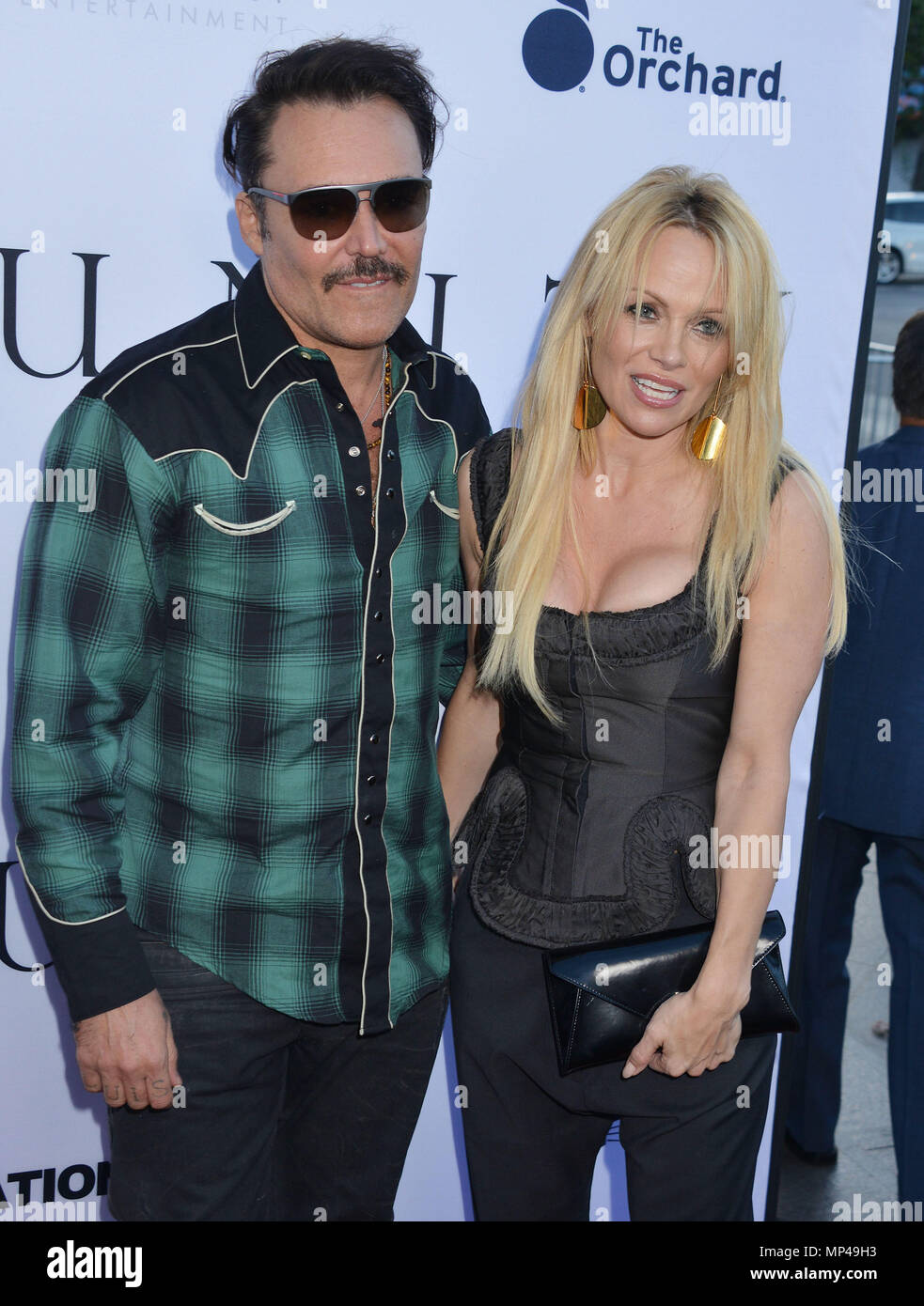 Pamela Anderson, David LaChapelle 007 at the Unity Premiere at the Director Guild Of America ( DGA ) Theatre in Los Angeles. June 24, 2015.Pamela Anderson, David LaChapelle 007 ------------- Red Carpet Event, Vertical, USA, Film Industry, Celebrities,  Photography, Bestof, Arts Culture and Entertainment, Topix Celebrities fashion /  Vertical, Best of, Event in Hollywood Life - California,  Red Carpet and backstage, USA, Film Industry, Celebrities,  movie celebrities, TV celebrities, Music celebrities, Photography, Bestof, Arts Culture and Entertainment,  Topix, vertical,  family from from the  - Stock Image