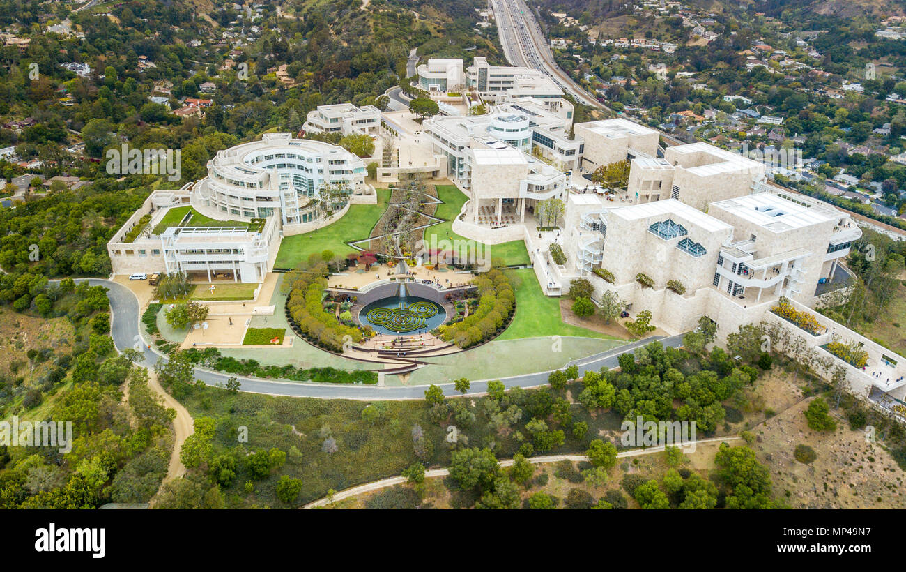 Getty Center, Los Angeles, California - Stock Image