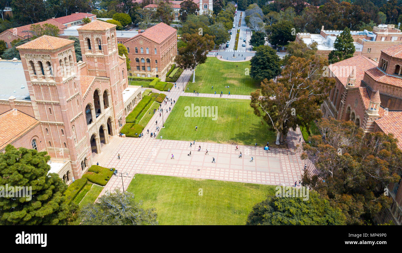Royce Hall, Dickson Court, UCLA Campus, University of California Los Angeles, California - Stock Image