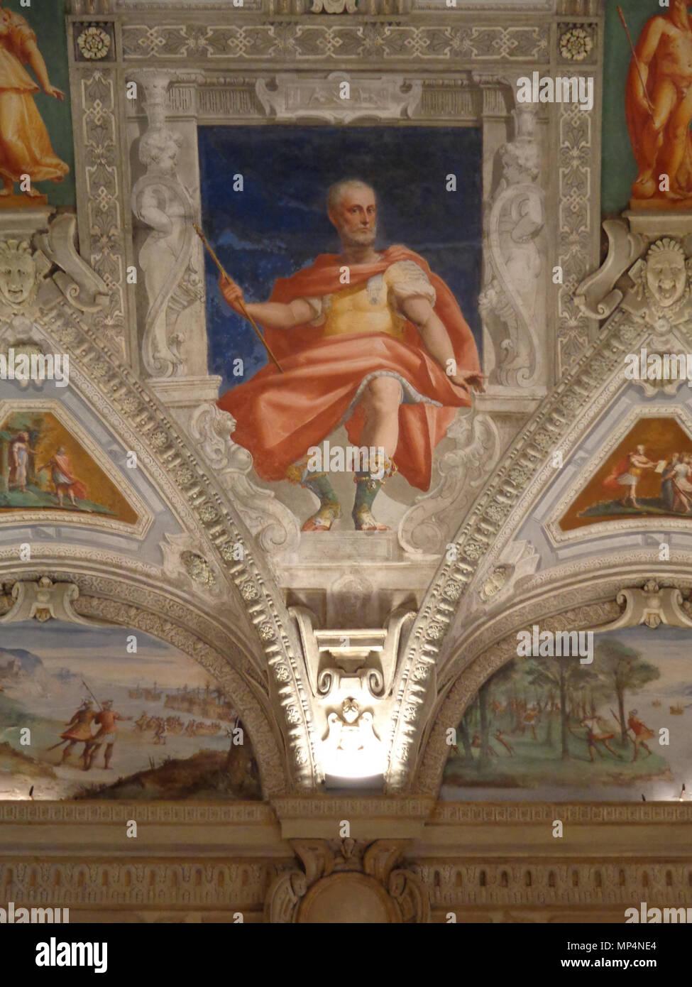 Figura    .   955 Palazzo della Meridiana Salone Cambiaso Figura 3a Stock Photo