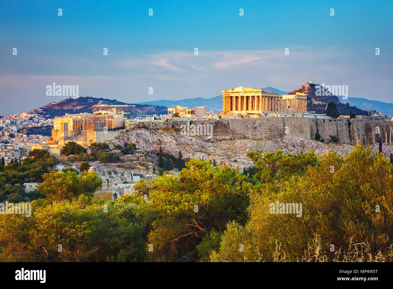 Acropolis in Athens, Greece Stock Photo