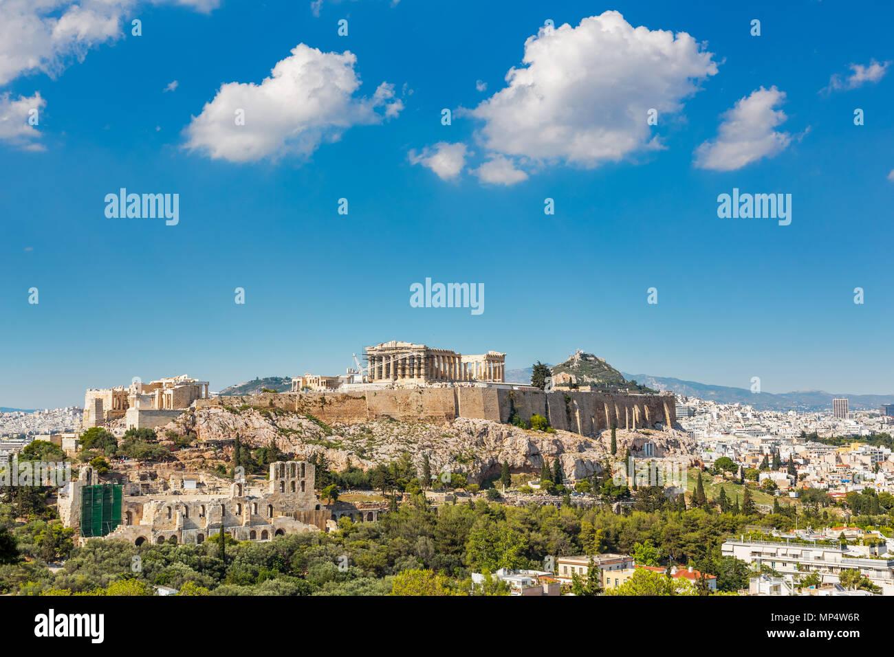 Acropolis of Athens, Greece - Stock Image