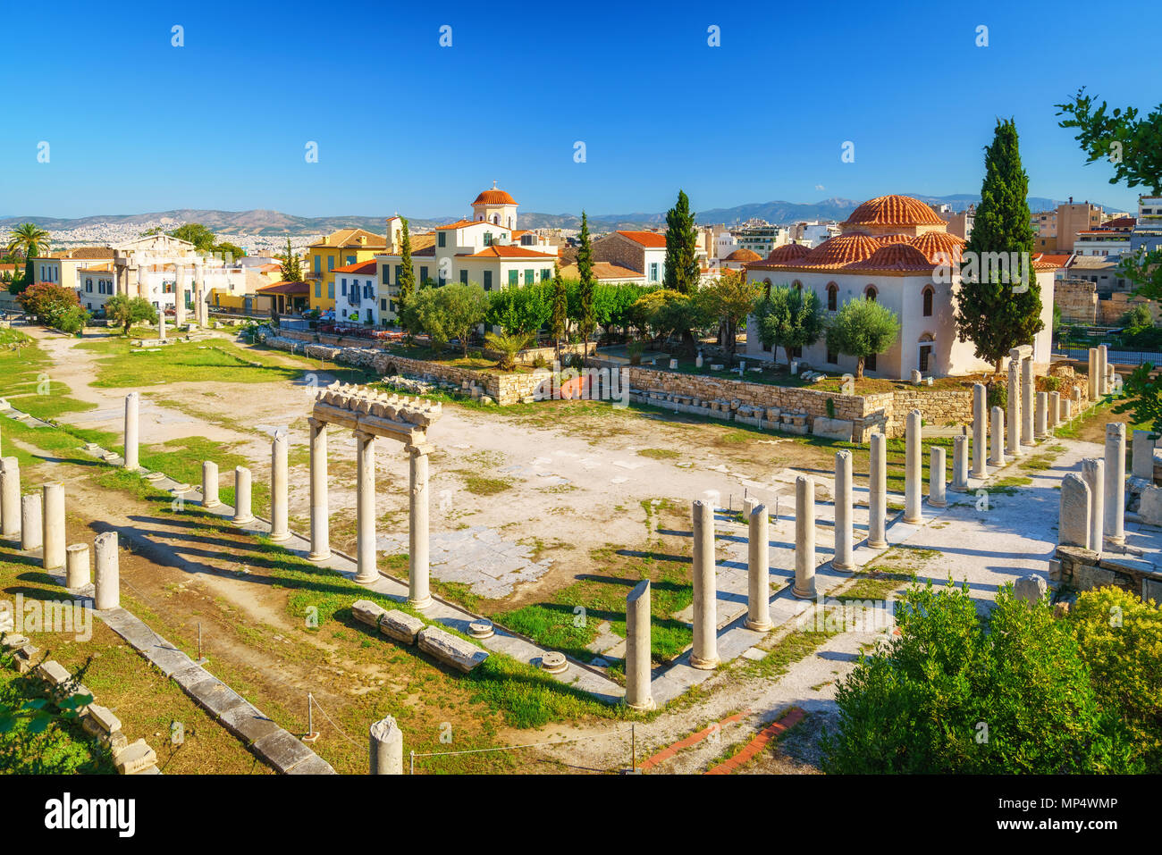 Roman Agora in Athens, Greece - Stock Image