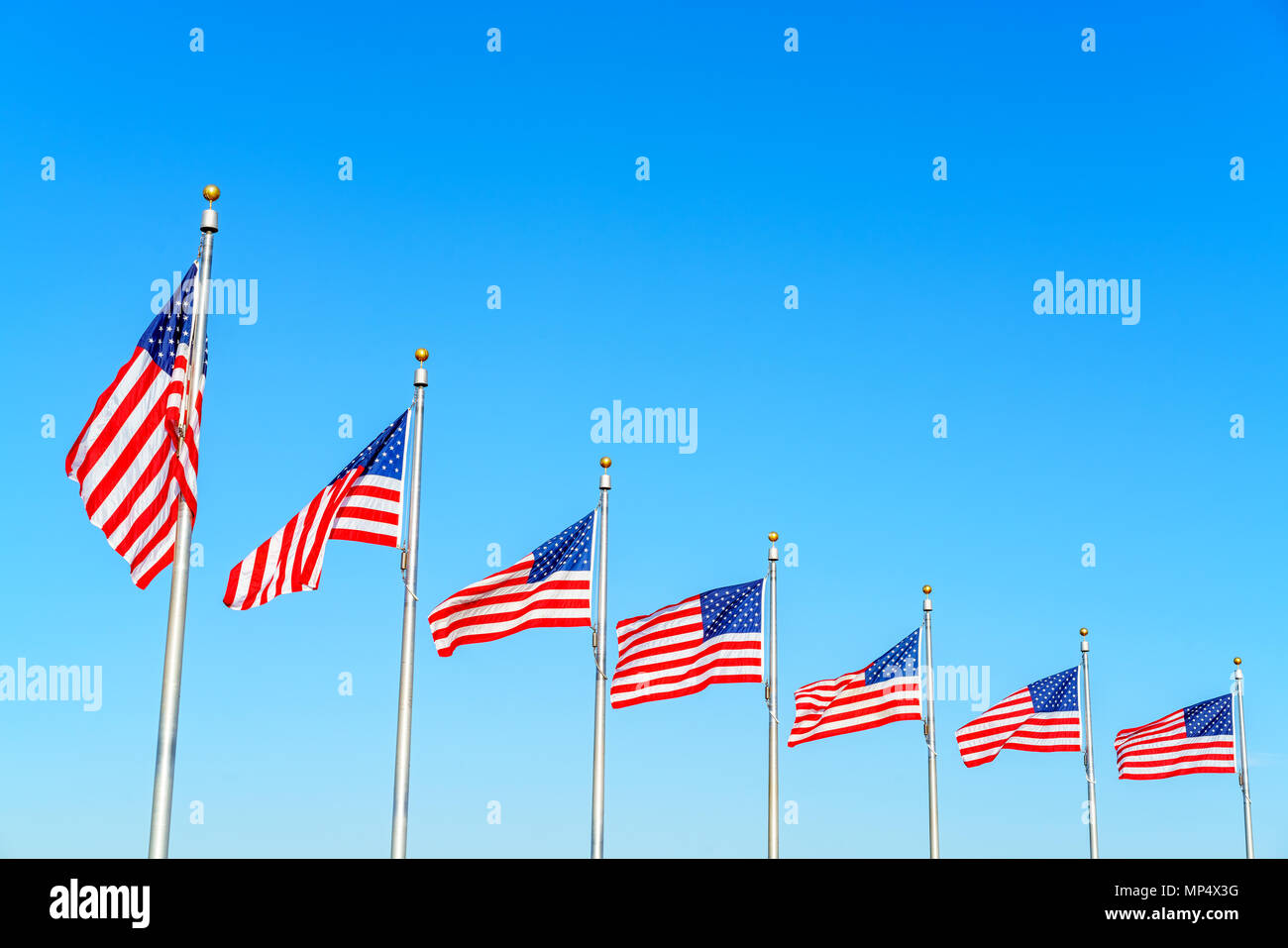 Flags of the United States - Stock Image