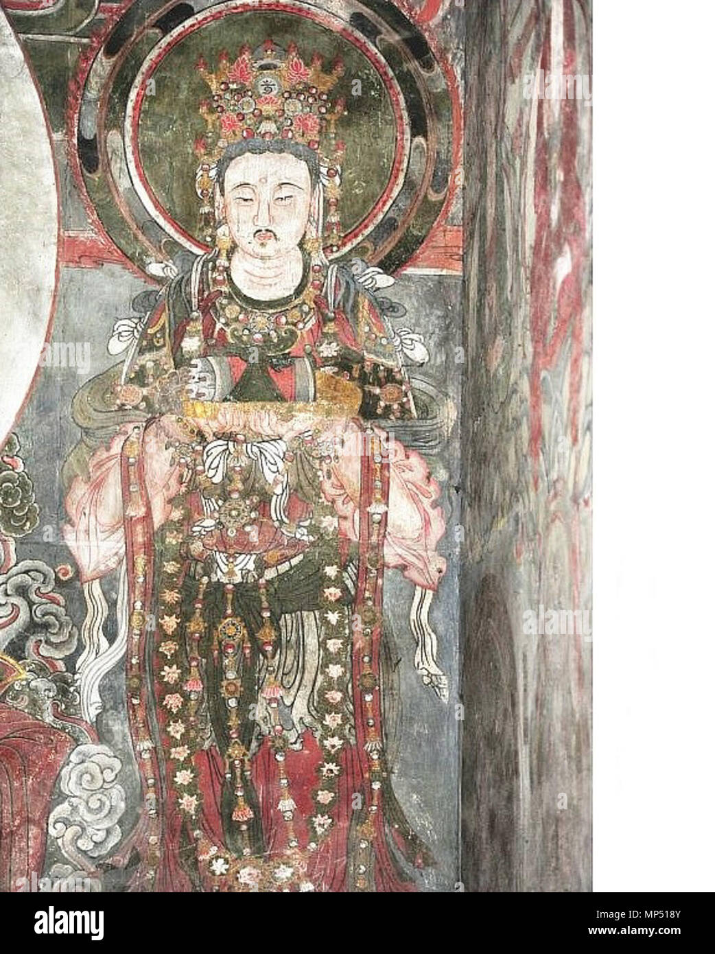 . English: Kin Dynasty (1115-1234) fresco in the Temple of Adoring Bliss (Ch'ung-fu Temple), Shuo-chou, Shansi. Español: Fresco en el Templo de la Adoración de la Prosperidad (Templo Ch'ung-fu), dinastía Kin (1115-1234), Shuo-chóu, Shansí. 5 October 2013, 05:11:49. Unknown artist of Kin Dynasty (1115-1234) 765 Kin Dynasty (1115-1234) fresco in Ch'ung-fu Temple, Shuo-chou 14 - Stock Image