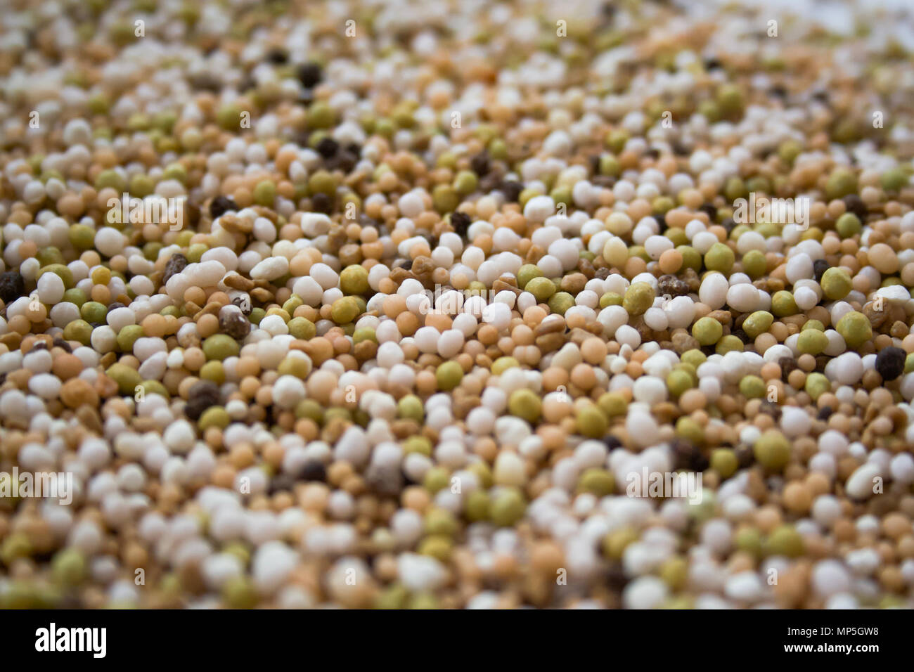 Fertilizers for agriculture texture background for design, closeup - Stock Image