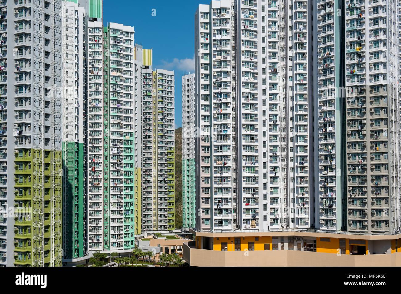 Public housing in Hong Kong - Stock Image
