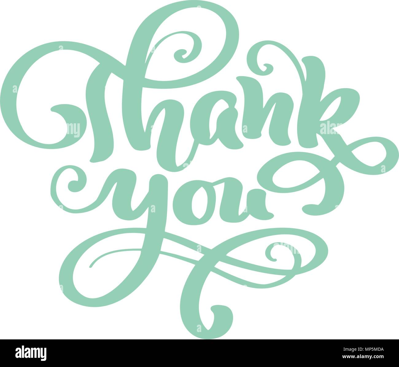 thank you hand drawn text trendy hand lettering quote fashion