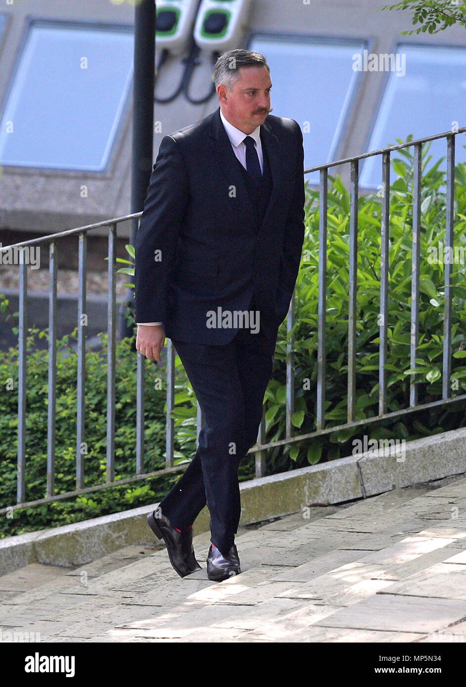 Matthew Pritchard arrives at Winchester Crown Court in Hampshire, where he is on trial for Misconduct in Public Office. Stock Photo