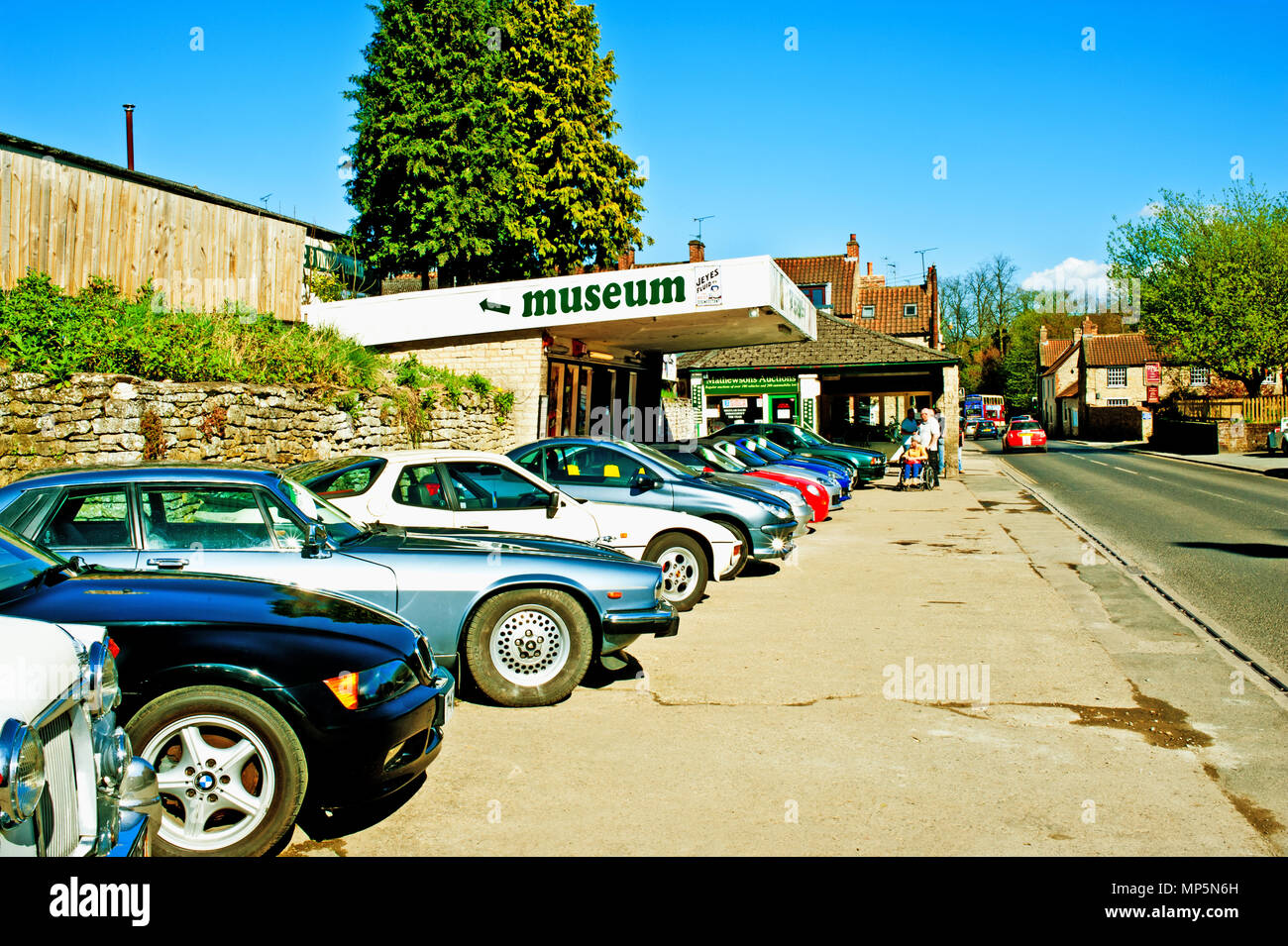Cars Ready for Auction, Motor Museum, Thornton Le Dale, North Yorkshire, England - Stock Image