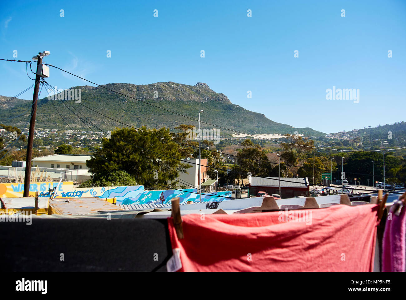 In south Africa, near cape-town, Imizamo Yethu township (Xhosa, meaning Our Efforts and commonly known as Mandela Park), is an informal settlement in  Stock Photo