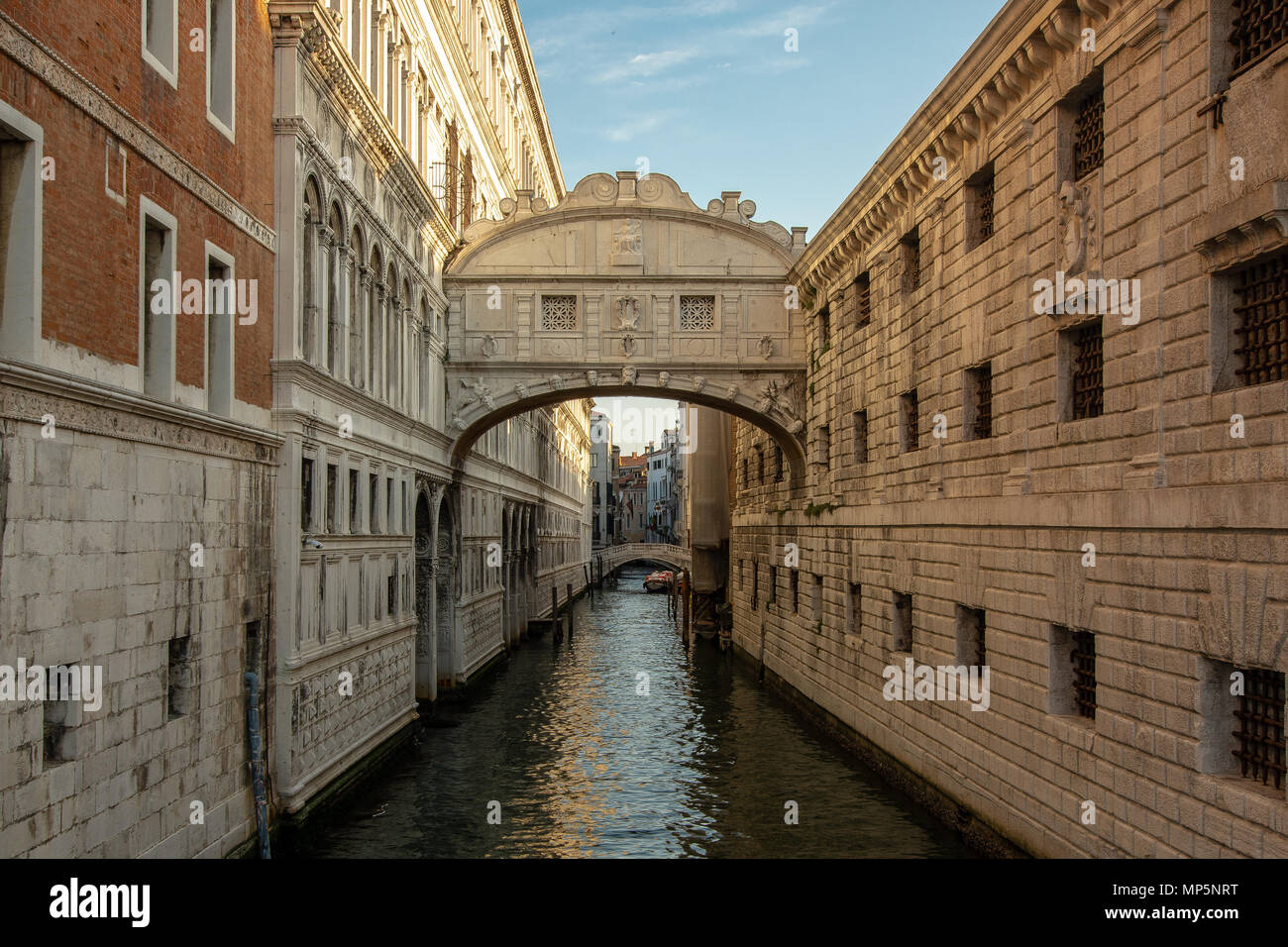 View on the beautiful historic Bridge of Sighs, Venice, Italy Stock Photo