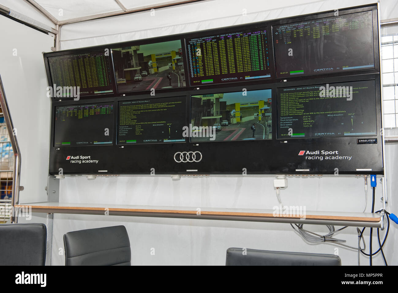 race track Circuit Zandvoort, Netherlands | Rennstrecke Zandvoort, Niederlande - Stock Image