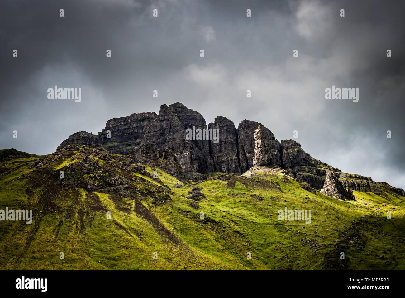 Old Man of Storr, Isle of Skye - Scotland, UK - Stock Image