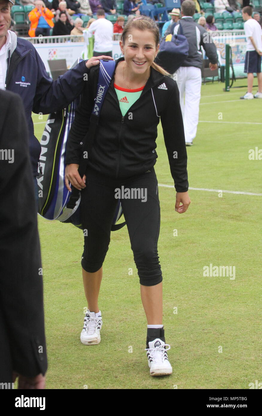 Liverpool,Uk, Swiss professional tennis player belinda-bencic plays at Liverpool Tennis Tournament credit Ian Fairbrother/Alamy Stock Photo