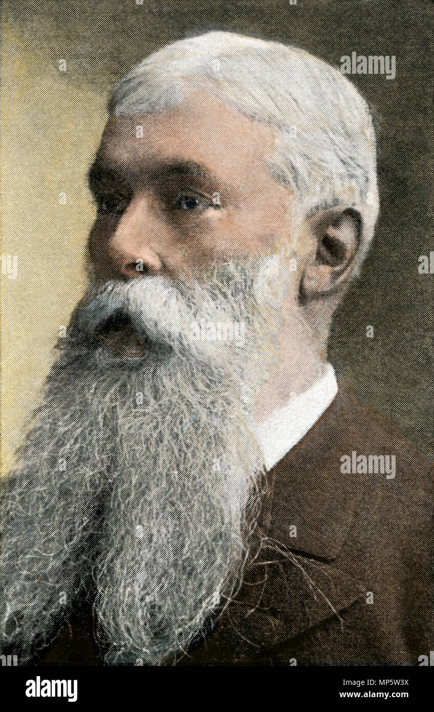 Sanford Dole, President of Hawaii, 1896. Hand-colored halftone of a photograph - Stock Image