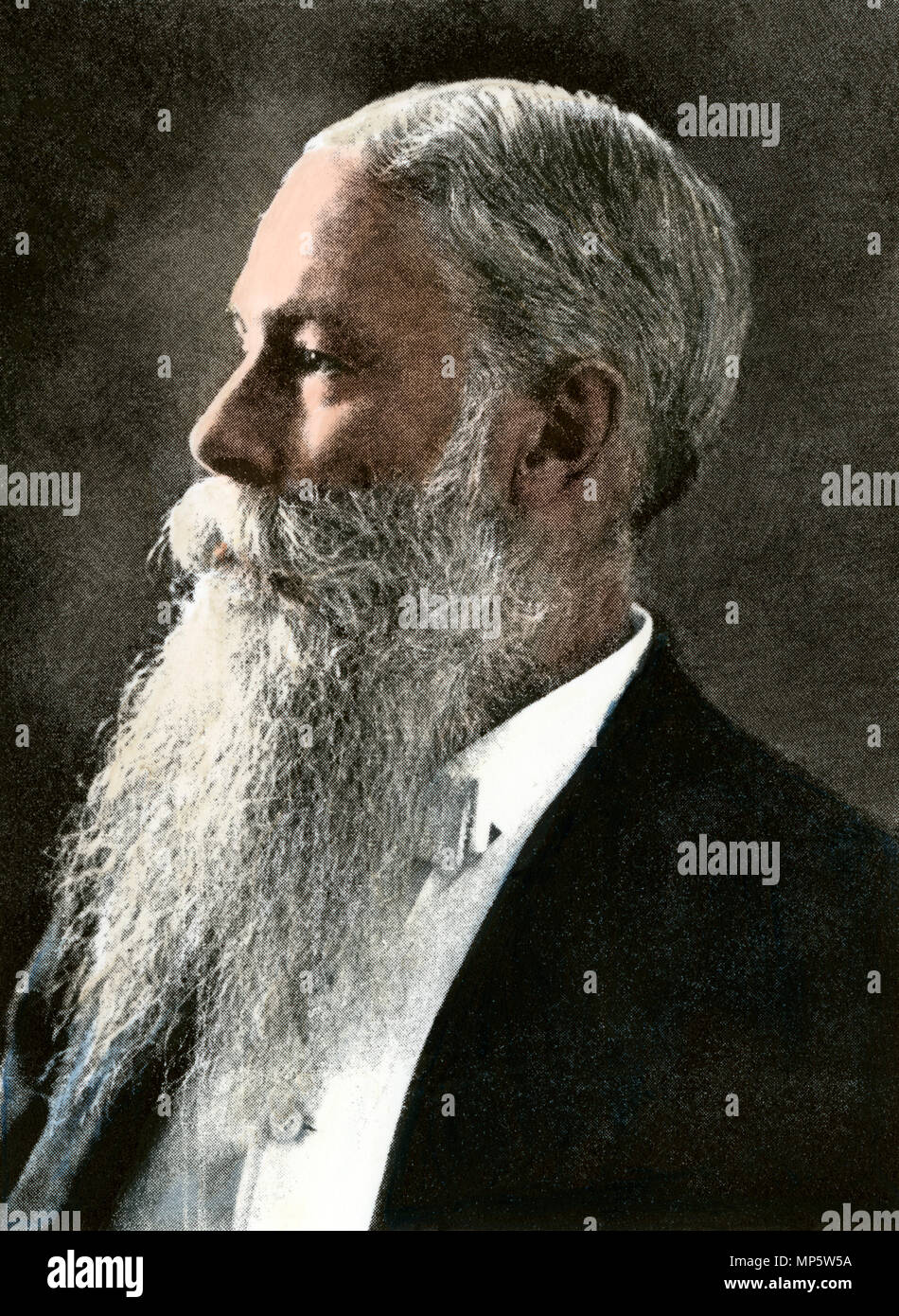 Sanford B. Dole, Territorial Governor of Hawaii, 1898. Hand-colored halftone of a photograph - Stock Image