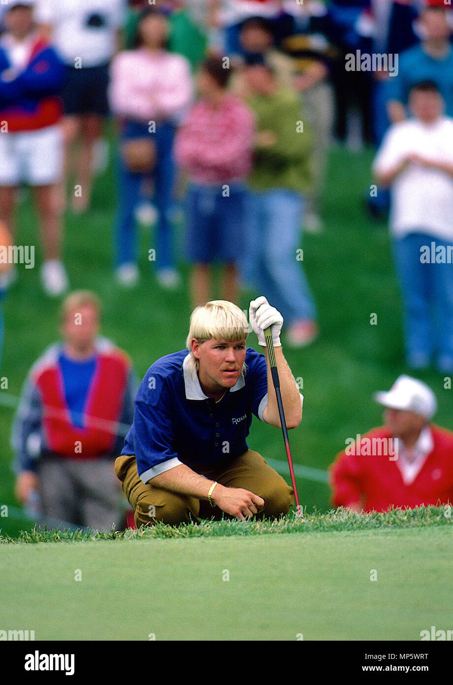 Potomac. Maryland, USA, May 28, 1992  John Daly plays during the Kemper Open at the TPC at Avenel in Potomac Maryland. Credit: Mark Reinstein/MediaPunch - Stock Image