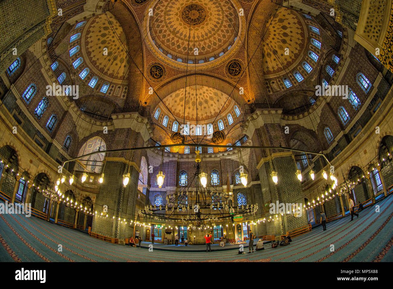 Istanbu - Blue Mosque, Sultan Ahmed Mosque. Blaue Moschee. Sultan-Ahmed-Moschee. - Stock Image