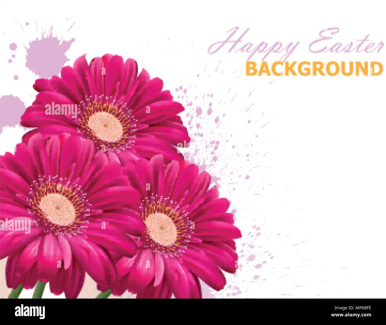 Happy Easter Daisy Flowers Bouquet Card Spring Floral Beauty