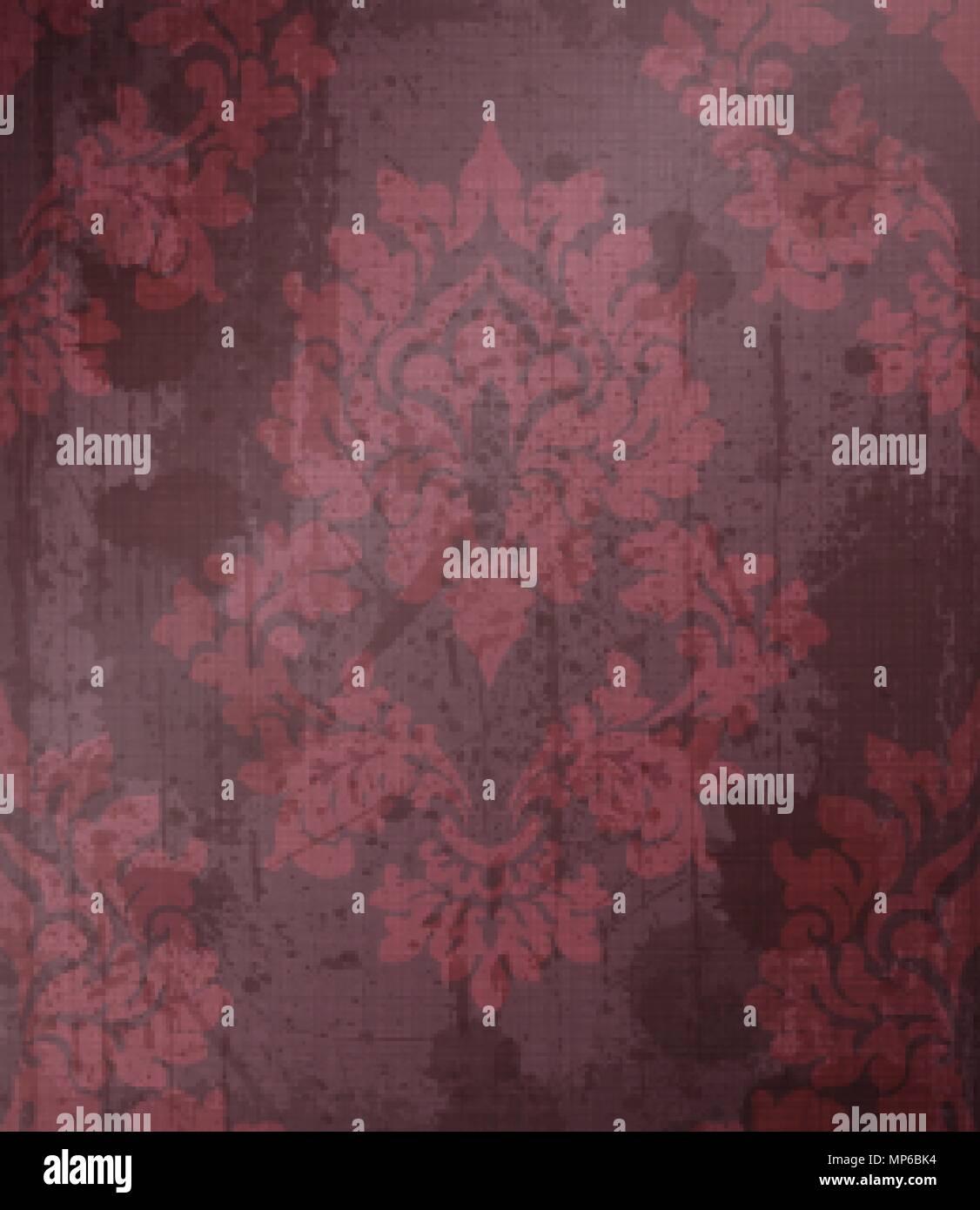 Damask pattern ornament decor Vector. Baroque fabric texture ...