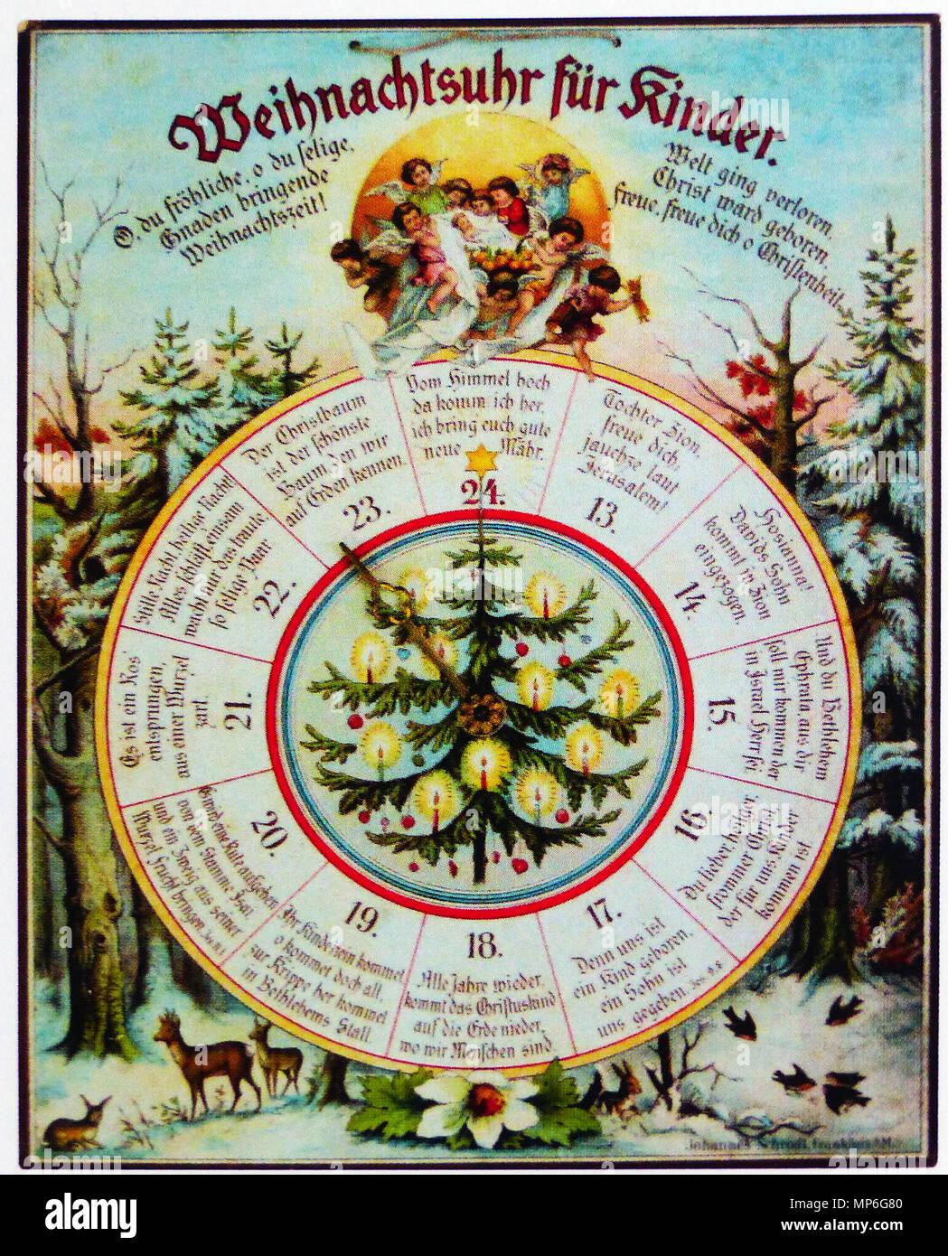 Kinder Weihnachtskalender.Kinder Adventskalender Stock Photos Kinder Adventskalender