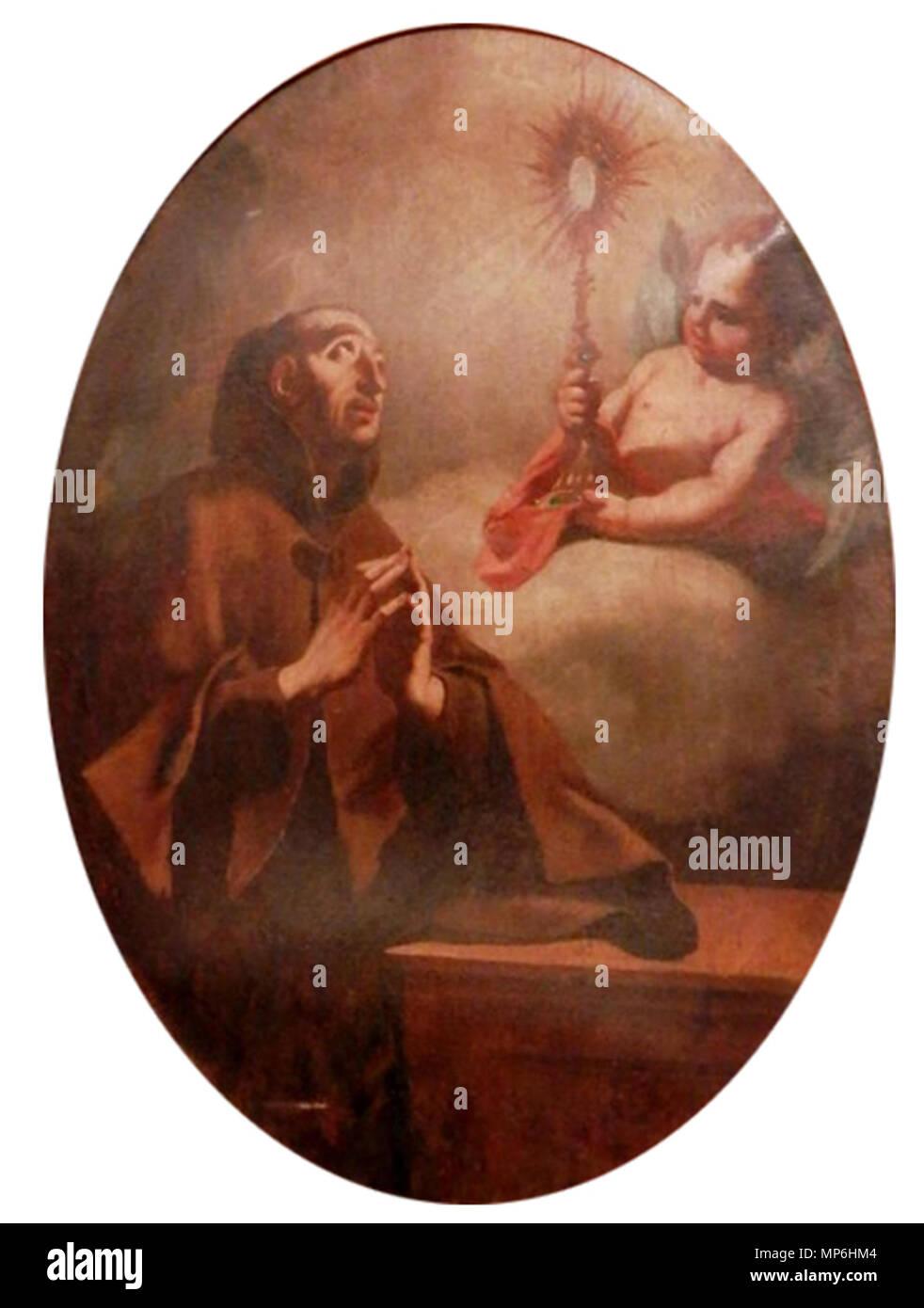 Slovenščina: Sv. Pashal   circa 1740.   1219 Valentin Metzinger - Sv. Pashal - Stock Image