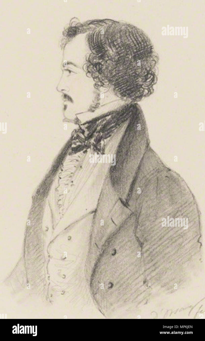 by Alfred, Count D'Orsay, pencil and chalk, 1839    . Robert Jocelyn, Viscount Jocelyn (1816–1854) . 1839.   Alfred d'Orsay  (1801–1852)     Description French illustrator, painter, sculptor and soldier  Date of birth/death 4 September 1801 4 August 1852  Location of birth/death Paris Chambourcy  Work period 1829-1852  Work location London  Authority control  : Q2622452 VIAF: 5713031 ISNI: 0000 0000 8353 3056 ULAN: 500007024 LCCN: n97013875 GND: 117606200 WorldCat 1067 Robert Jocelyn, Viscount Jocelyn - Stock Image