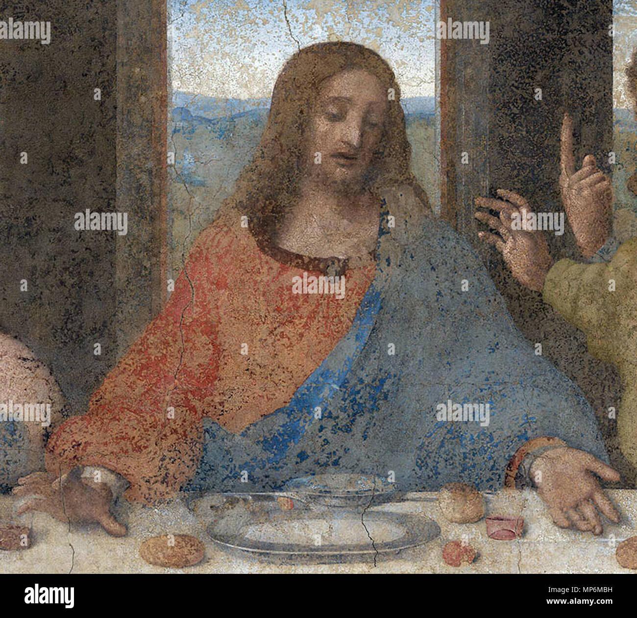 718 Jesús En La última Cena De Leonardo Da Vinci Stock Photo Alamy