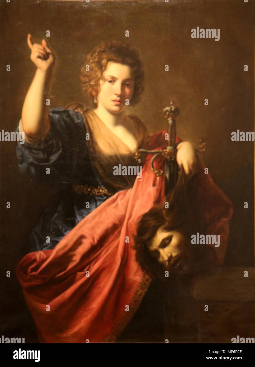 Judith  and Holopherne   .   1218 Valentin de Boulogne - Judith et Holopherne - Stock Image
