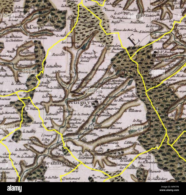 carte de cassini date Français : Orbigny sur la carte de Cassini . 1765. César François