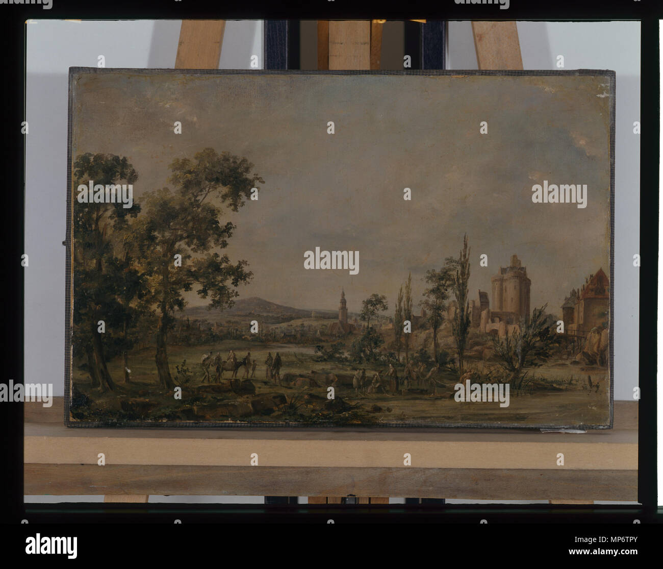 968 Paysage - anonyme - musée d'art et d'histoire de Saint-Brieuc Stock Photo