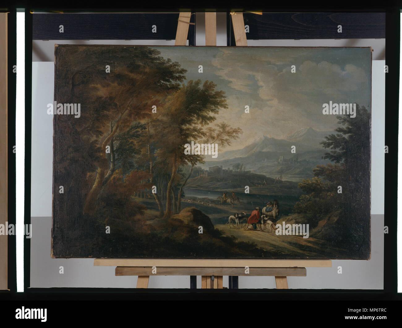 968 Paysage - anonyme - musée d'art et d'histoire de Saint-Brieuc, DOC 32 Stock Photo