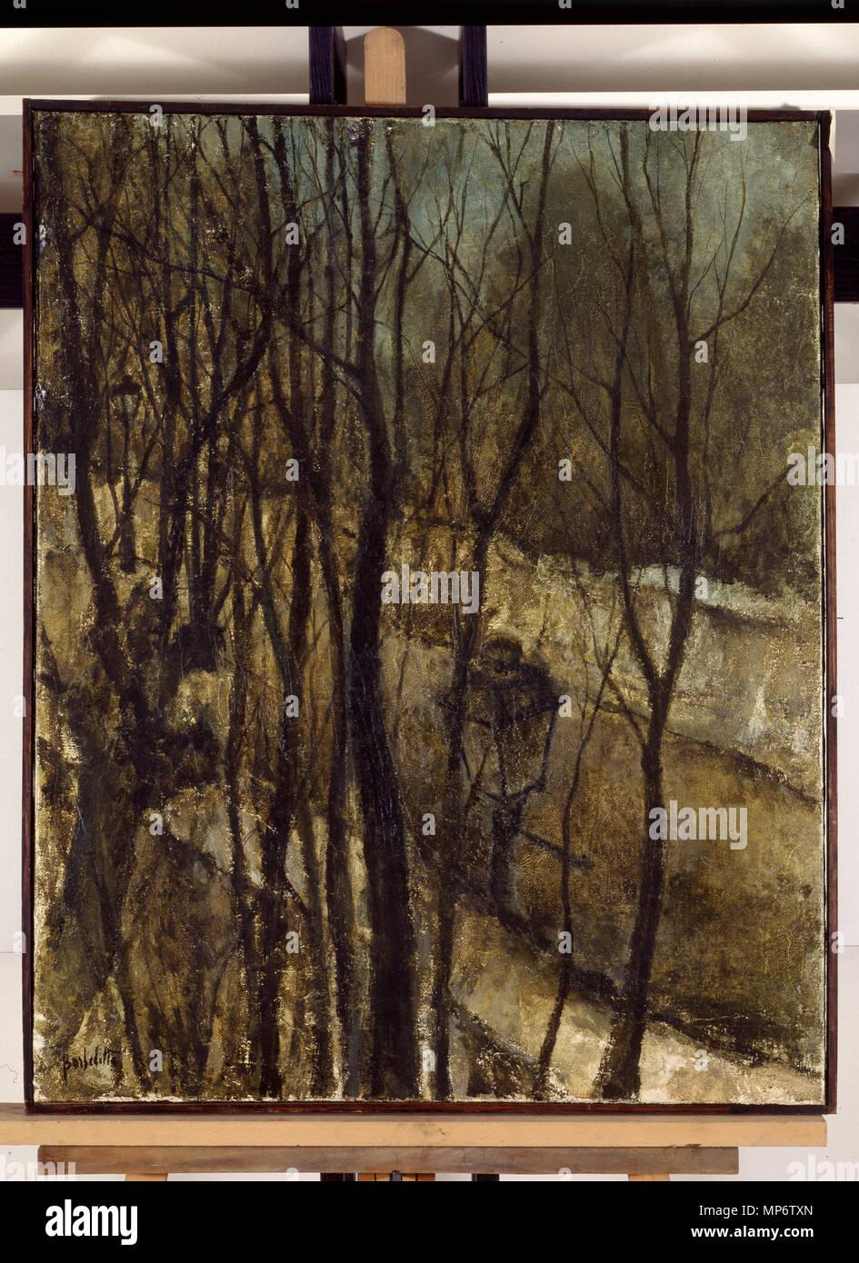 968 Paysage d'hiver - Barbedette - musée d'art et d'histoire de Saint-Brieuc DOC 832 Stock Photo