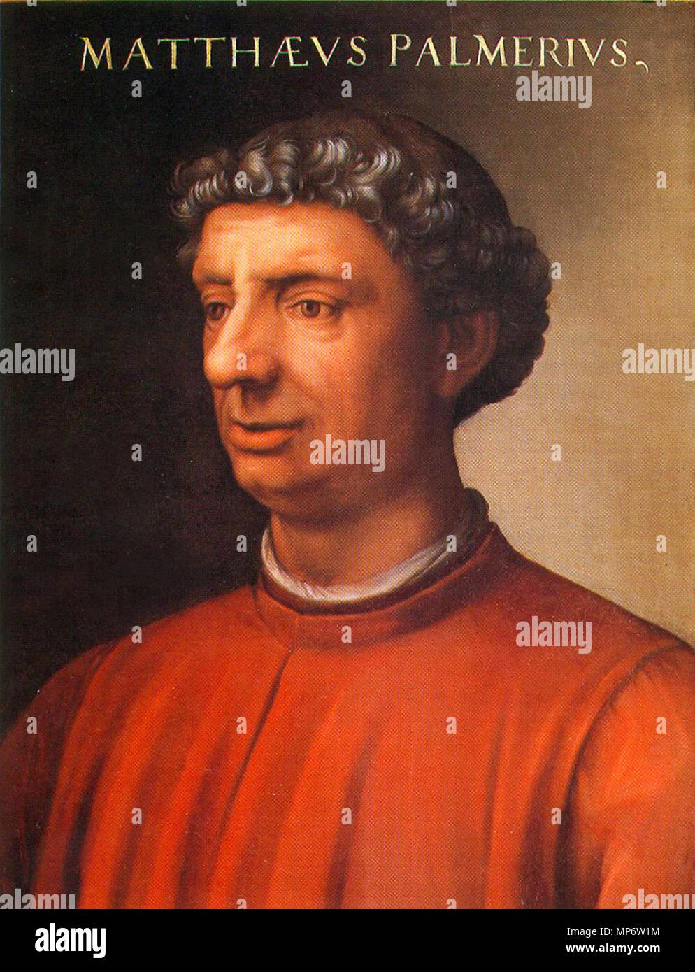 .  English: Portrait of Matteo Palmieri, Cristofano dell'Altissimo. After 1552. Oil on wood, 60 x 40 cm. Inv 1890, no. 164. Giovio Series   Giunti Photographic Archive/Foto Rabatti-Domingie, Florence 875 MatteoPalmieri - Stock Image