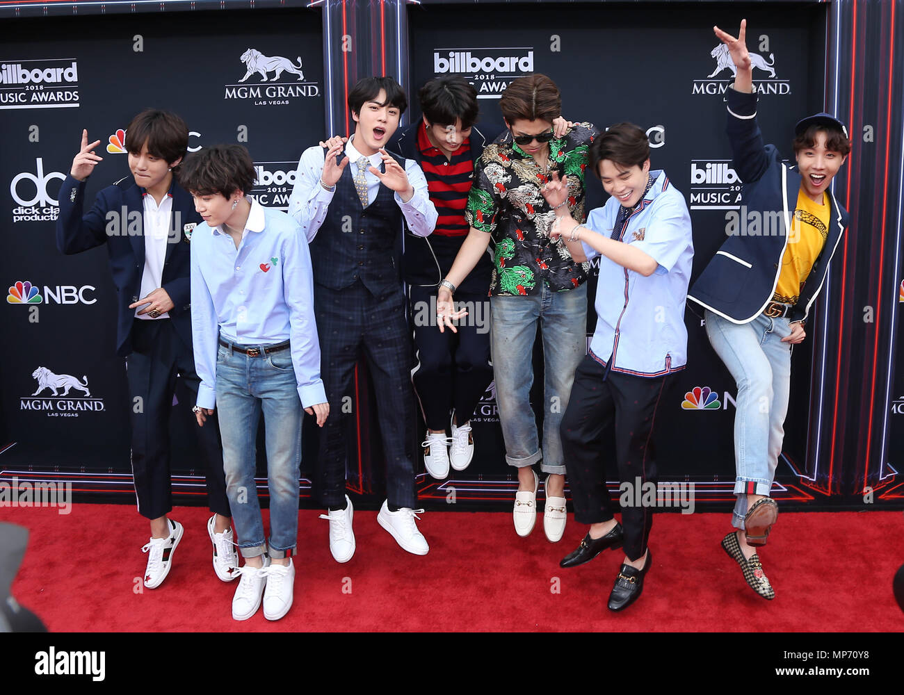 Las Vegas, NV, USA. 20th May, 2018. 20 May 2018 - Las Vegas, NV - BTS. 2018 Billboard Music Awards Red Carpet arrivals at MGM Grand Garden Arena. Photo Credit: MJT/AdMedia Credit: Mjt/AdMedia/ZUMA Wire/Alamy Live News - Stock Image