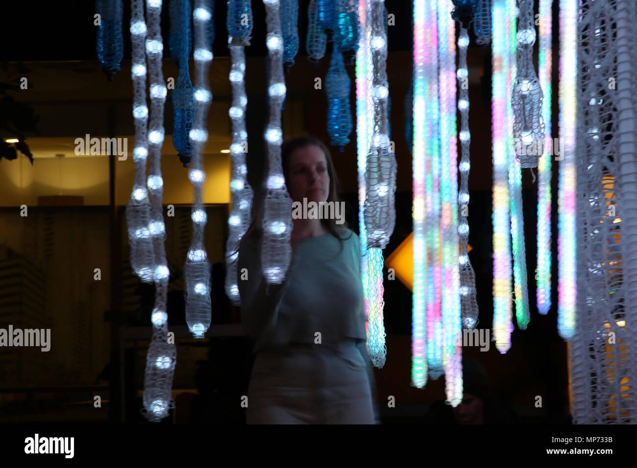 Sydney, Australia. 21 May 2018. The Vivid Sydney Festival of Light