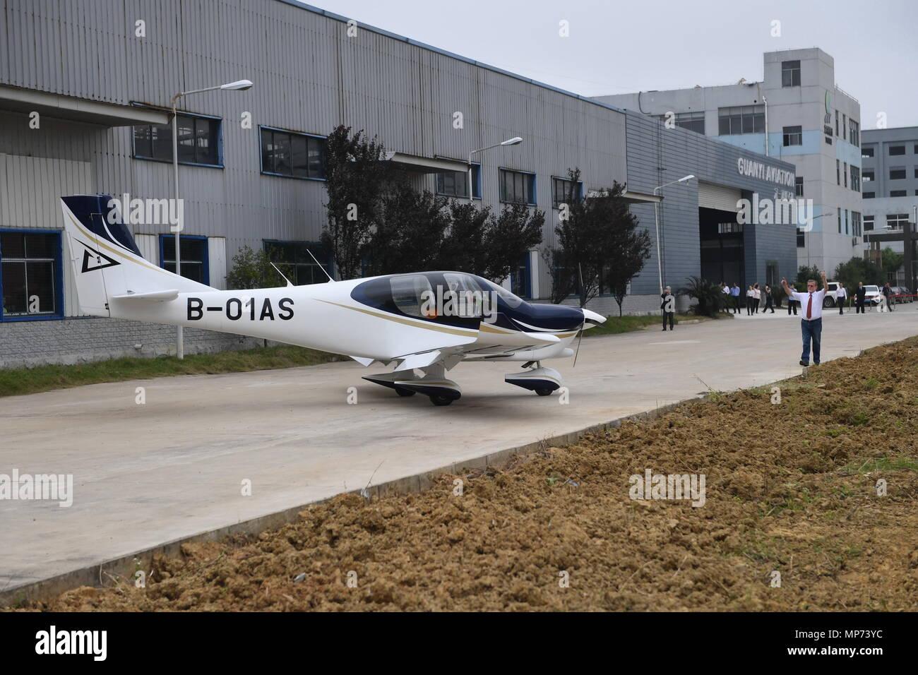 Nanchang Chinas Jiangxi Province 21st May 2018 Airplane GA20 Demonstrates For A